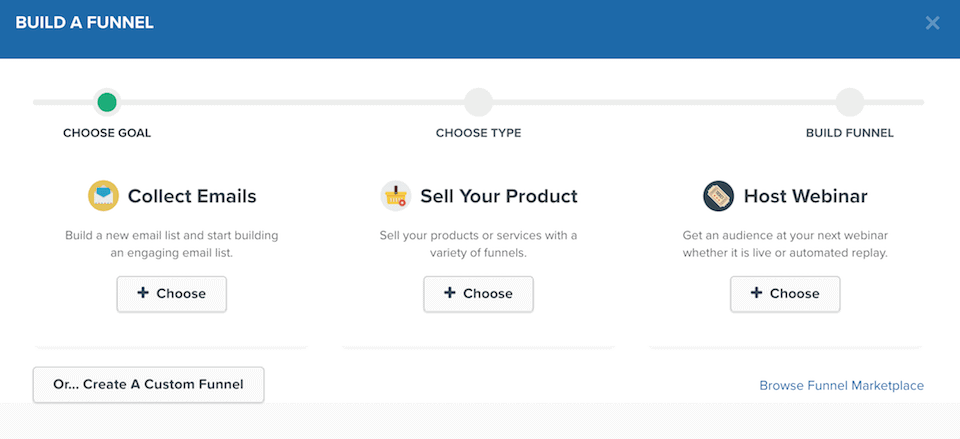 leadpages review vs clickfunnels 2019 from an early adoptor of bothif you choose to build an optin funnel you get presented with a number of templates to choose from as shown below clickfunnels has nowhere near an